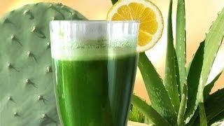 Cactus Aloe Smoothie, the SUPER Longevity drink w Aloe Vera & Prickly Pear Nopales