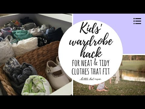 Baby and kids clothes hack: How to keep drawers organised and streamline storage
