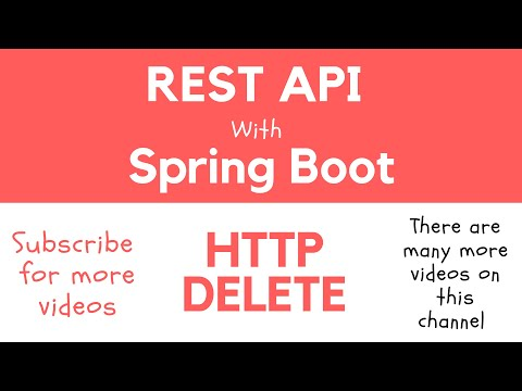 REST API with Spring Boot - @DeleteMapping. Handle HTTP DELETE Request and Return a Response