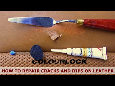 How to repair cracks and rips on car leather - Fluid Leather