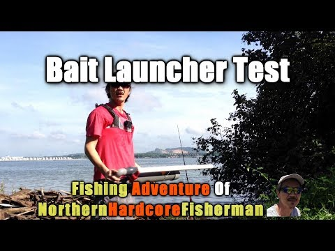 DIY Compressed Air Bait Launcher Test | FishingAdvNHF