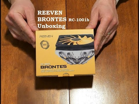 Reeven RC-1001 Brontes 4K Unboxing - Best Slim Low Profile CPU Cooler for Mini ITX and HTPC