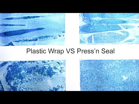 Watercolor Techniques  - Plastic Wrap vs Press'n Seal