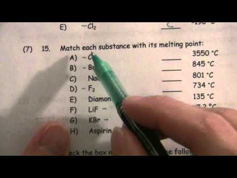 Boiling/Melting Points and Intermolecular Forces