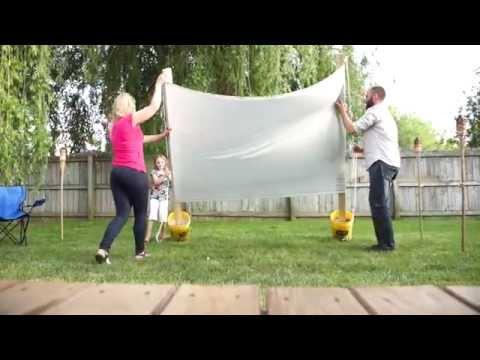 Outdoor Backyard Movie Projector Screen DIY (Valu Home Centers)