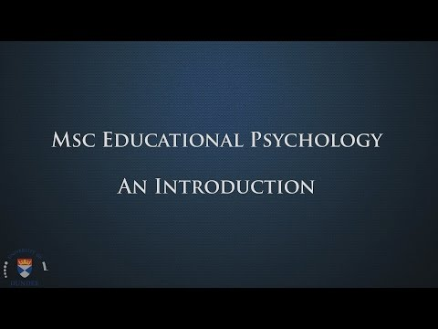 Msc Educational Psychology: An Introduction