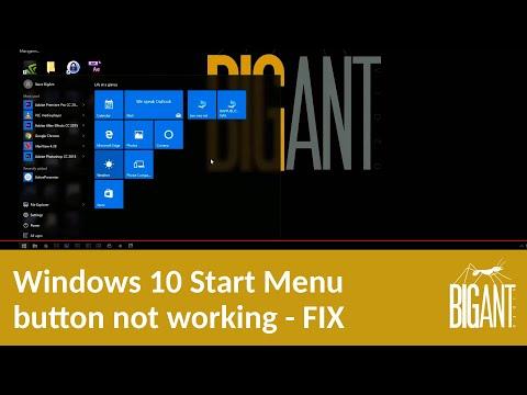 Windows 10 Start Menu button not working - FIX.