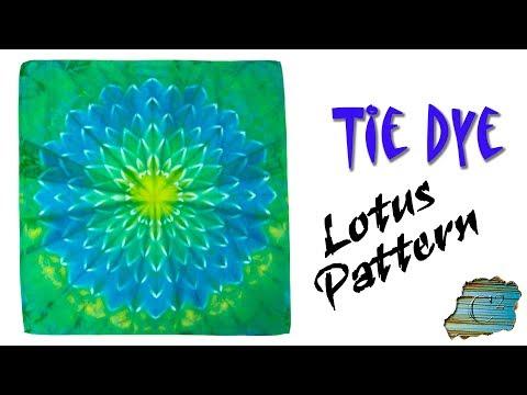 How to Tie Dye:  Lotus Pattern