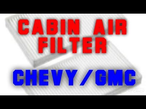Cabin air filter: 99-02 GMC Sierra/Chevy Silverado