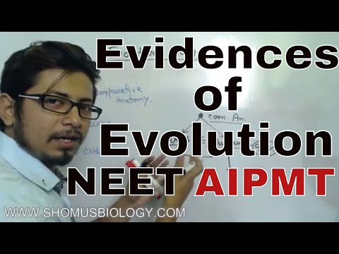 Evidences of Evolution class 12 | Zoology lecture for NEET AIPMT