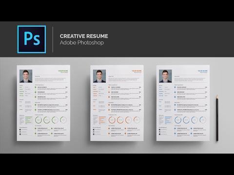 Template Resume - Adobe Photoshop