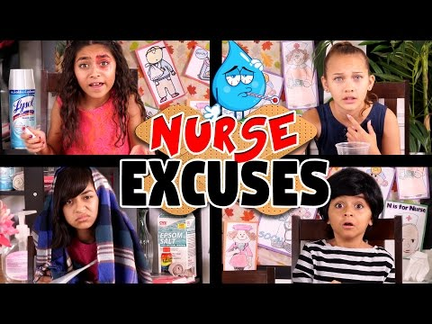 School Nurse Excuses - ft. Halia Beamer // GEM Sisters