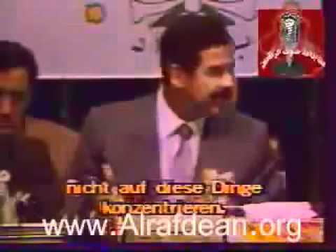 صدام يتحدث عن سبب احتلال الكويت في مؤتمر القمة العربي
