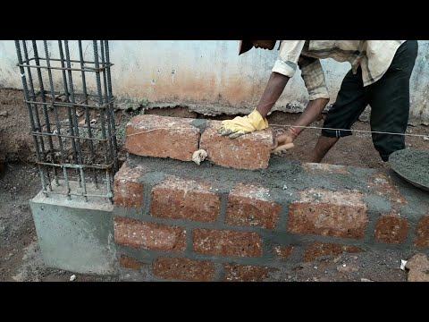 Wall construction from laterite stones