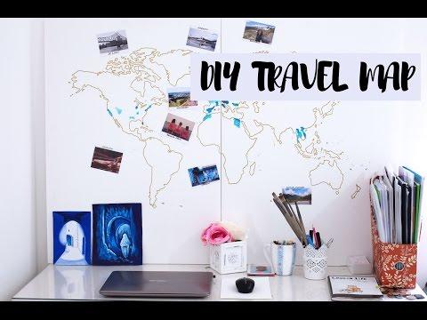DIY: Travel Map using Acrylics