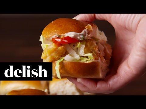 Shrimp Po' Boy Sliders | Delish
