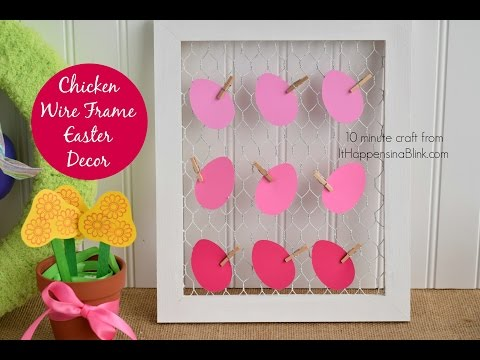 Chicken Wire Easter Decor with Consumer Crafts