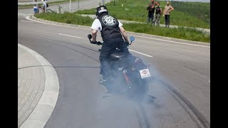 Guinness World Record in the longest motorcycle burn-out (Harley-Davidson Street Rod™)