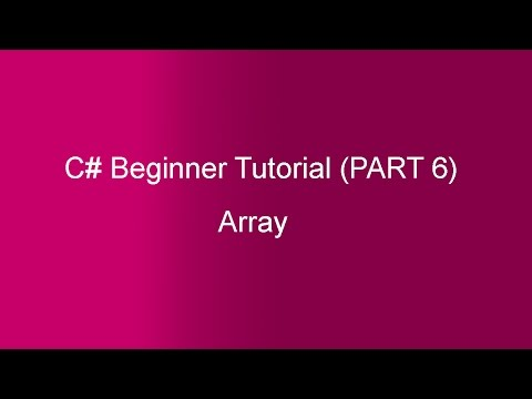 Part 6 - C# Tutorial - Array(In HIndi)