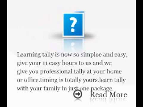i want to learn tally at home or office.tally tution at home,tally service provider.