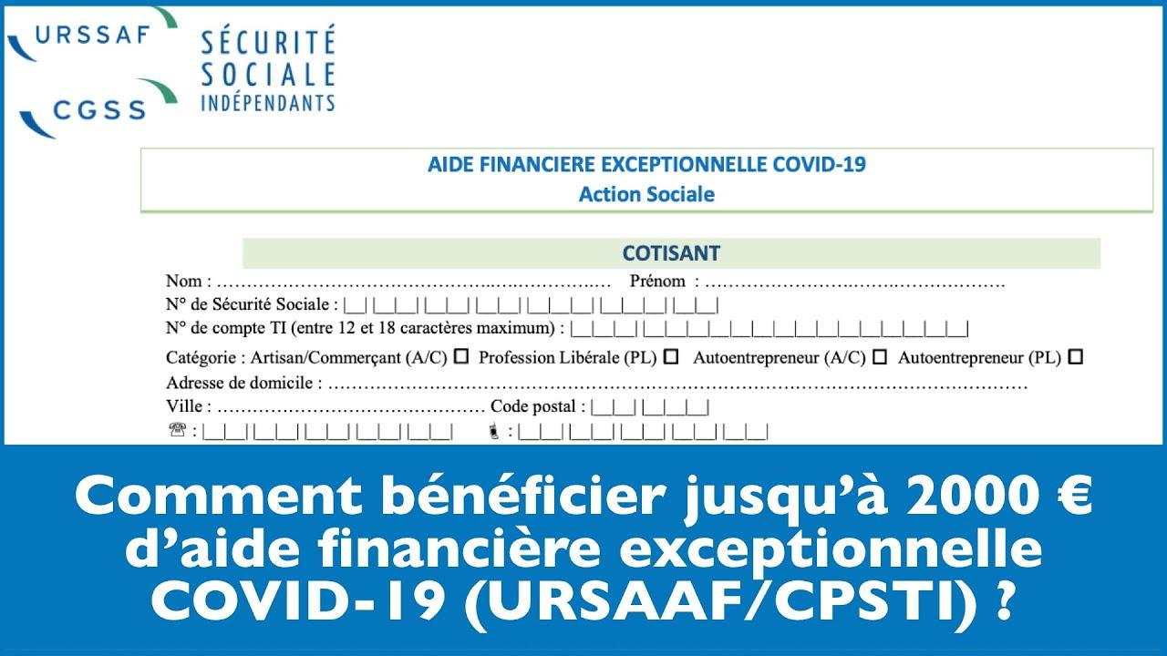 Comment bénéficier de l'aide financière exceptionnelle URSSAF ? [Action sociale / COVID-19]