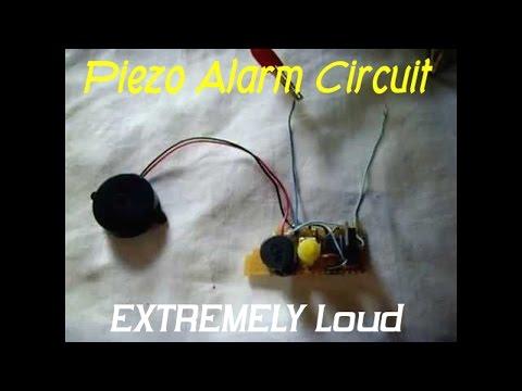 12V Piezo Siren Circuit - EAR PIERCING Sound