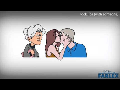 lock lips (with someone)