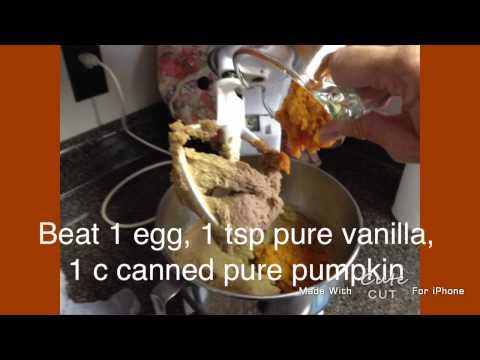 homemade Pumpkin Oatmeal cookies
