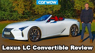 Lexus LC500 Convertible 2021 review - see why it's worth £90,000!