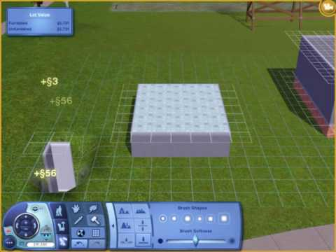 The Sims 3-How to make half walls