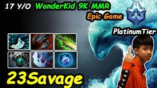 23savage - [Morphling] 17 Y/O Wonderkid 9k MMR PlatiumTier  Epic Game Dota 2 7.21d Gameplay