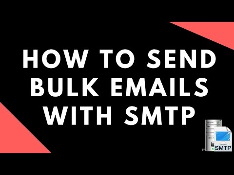 how to send bulk emails with smtp