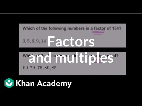 Finding factors and multiples | Factors and multiples | Pre-Algebra | Khan Academy