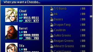 Final Fantasy VII Perfect File with Max Natural HP/MP + W