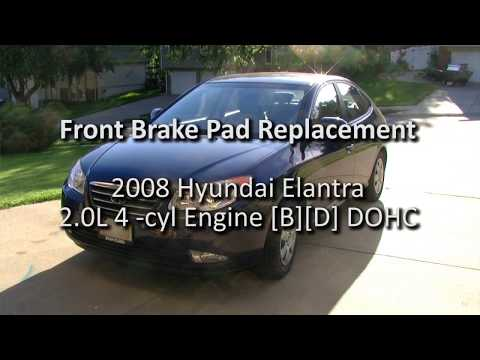 2008 Hyundai Elantra Front Brake Pad Replacement (New Brakes)