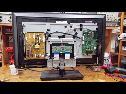 Toshiba 32L2333D Full-HD TV Repair (SMD memory chip)