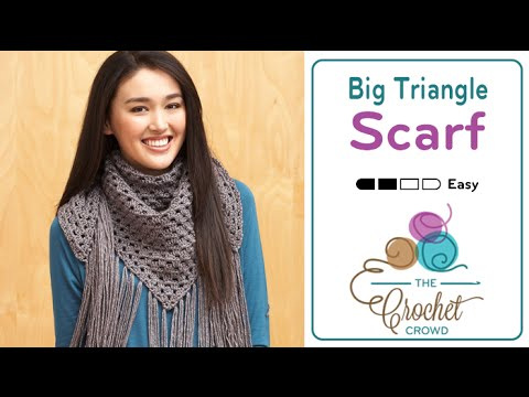 How to Crochet A Scarf: Big Triangle Scarf