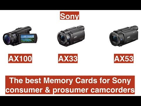 The best Memory Cards for Sony consumer & prosumer camcorders