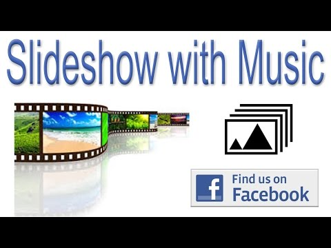 HOW TO MAKE SLIDESHOW WITH MUSIC DIRECT FROM FACEBOOK |  VIDEO TUTORIAL