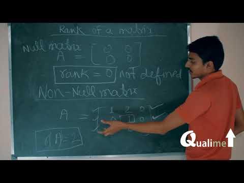 Rank and nullity of matrix