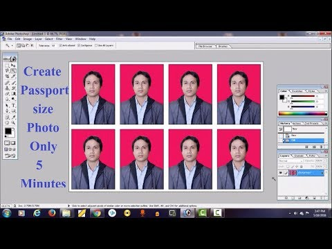 How to Make / Create a Passport Size Photos in Adobe Photoshop step by step