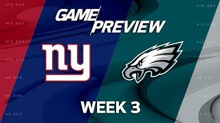 New York Giants vs. Philadelphia Eagles | Week 3 Game Preview | Move the Sticks