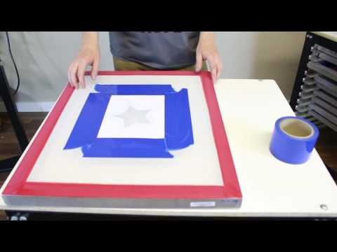 How To: Screen Printing Using Paper Stencils