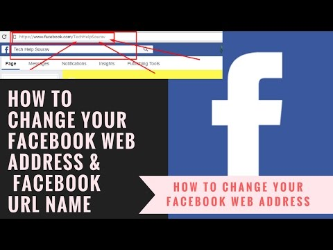 How To Change Your Facebook Web Address &  Facebook URL Name