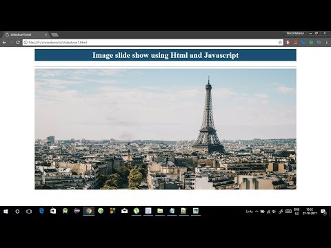 image slider in javascript, html and css in hindi