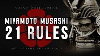 Miyamoto Musashi Dokkodo - 21 Rules For Life (Philosophy)