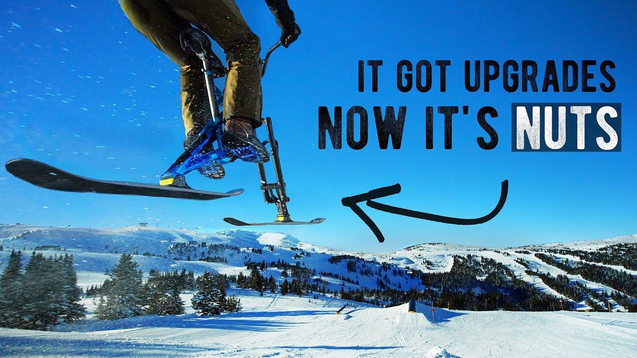 Upgrading and shredding a... Ski Bike? (IT'S TOO FAST)