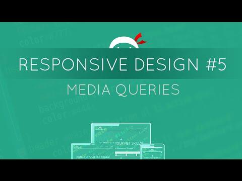 Responsive Web Design Tutorial #5 - Media Queries