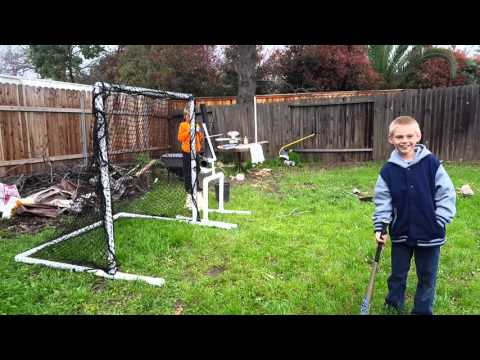 Easy batting cage and pitching machine