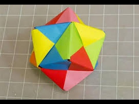 How To Make An Origami Triangular Sonobe Icosahedron